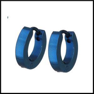 Örhängen Creol Blå 11x2 mm i stål