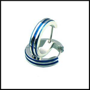 Creol Örhängen Stripe i stål