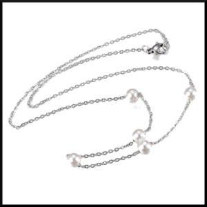 Halsband pärlrand i stål