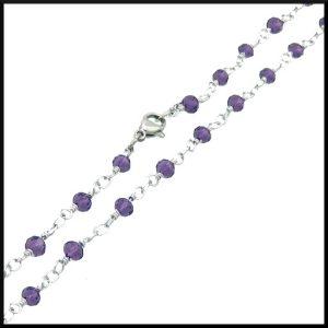 Halsband Lavendel i stål